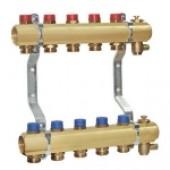 Коллектор для систем водоснабжения и отопления, 6 контуров